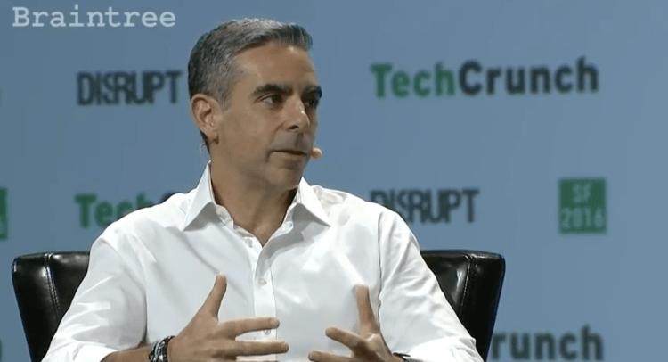 Facebook's David Marcus at TechCrunch Disrupt in 2016.