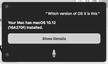 Siri Mac macOS version