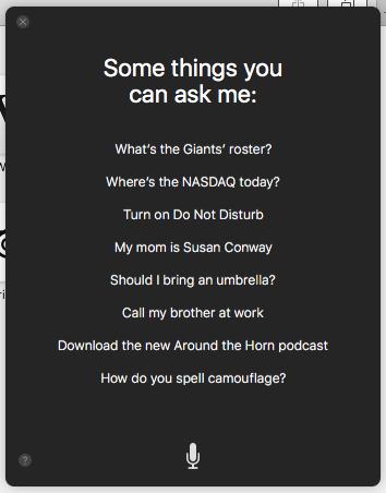 Siri suggestions screenshot
