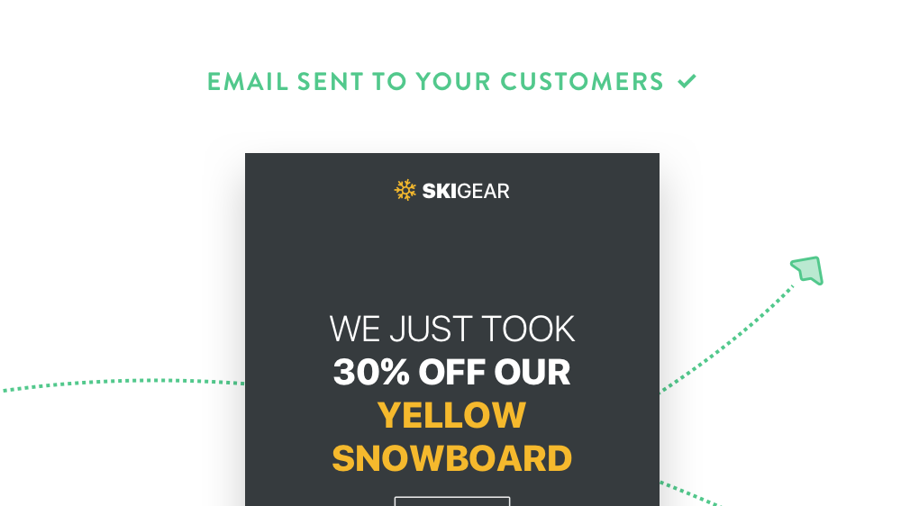 Example of a smart email powered through Weebly 4.