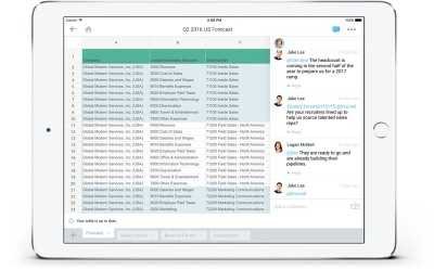 Workday Planning gets Worksheets collaborative spreadsheets based on
