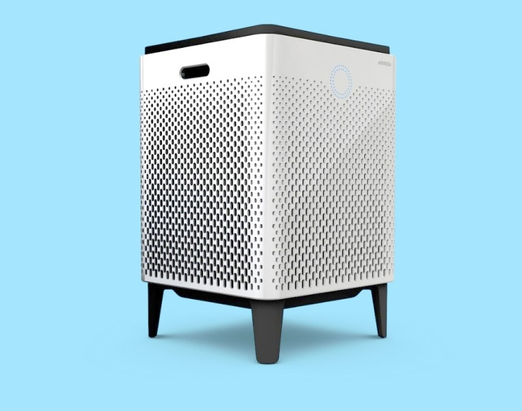 Airmega is about the size of a mini fridge.