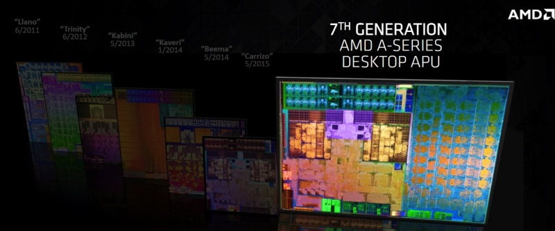AMD A-Series is the 7th generation of APUs.