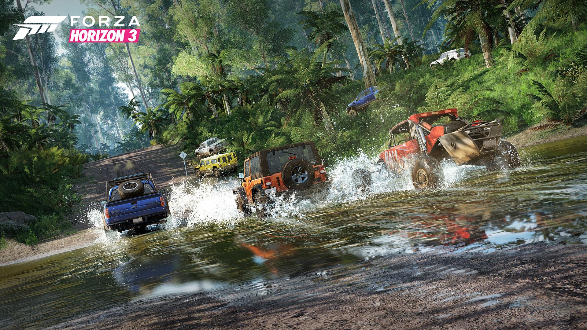 Race through the river.