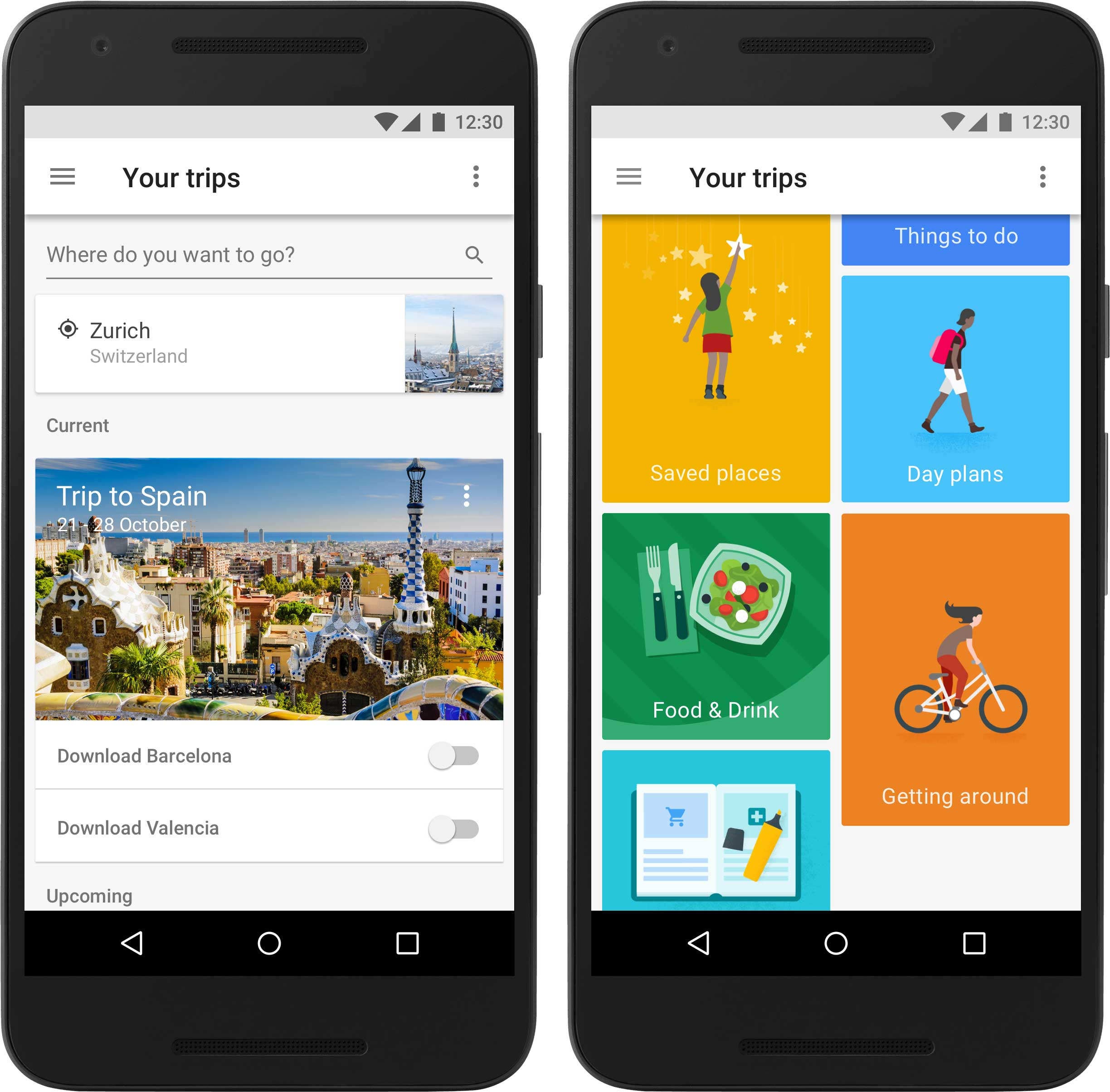 Google Trips organizes your travel details in one app that also works offline.