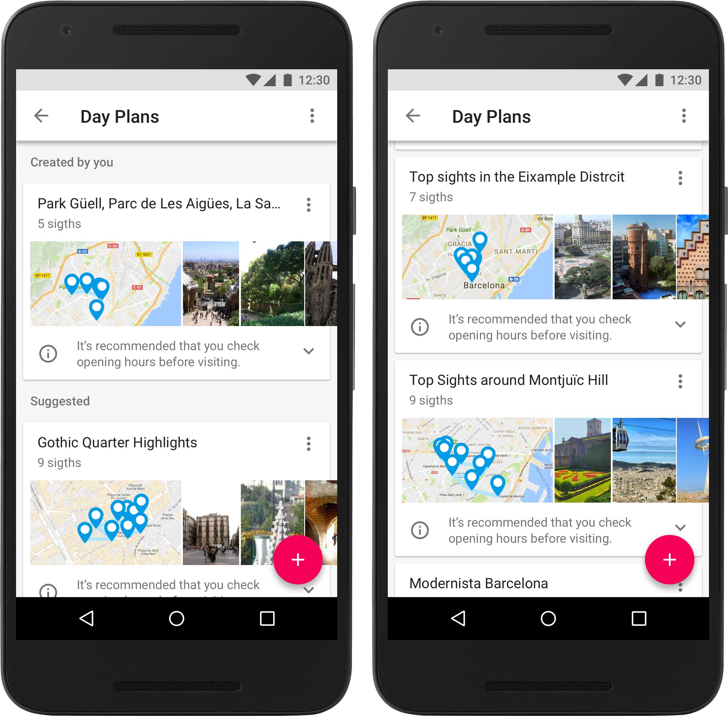 Google Trips uses historical travel information from other users to provide sample itineraries for you based on the top 200 cities around the world.