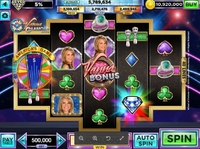Vanna White is the in-game host in the latest Wheel of Fortune Slots game.