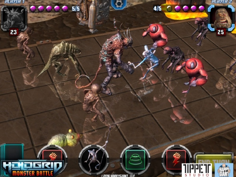 Tippett Studio and HappyGiant are using handcrafted monsters in HoloGrid: Monster Battle.