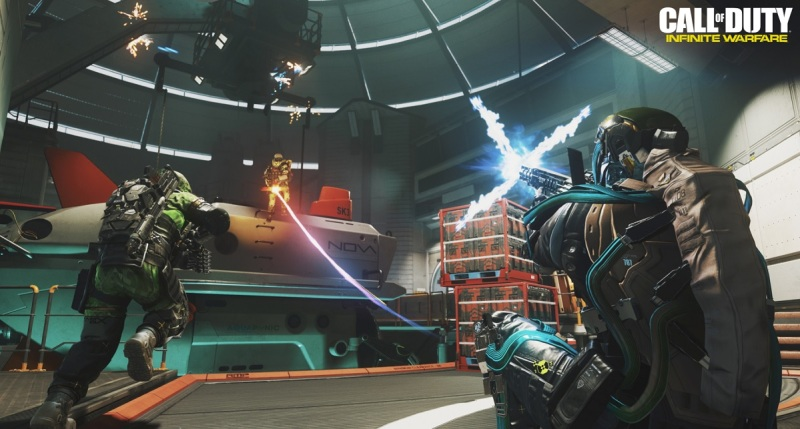 The action is very fast-paced in Infinite Warfare's multiplayer.