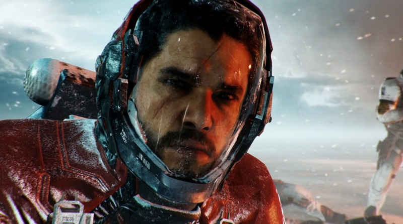 That's not Jon Snow. It's Admiral Kotch from Call of Duty: Infinite Warfare.