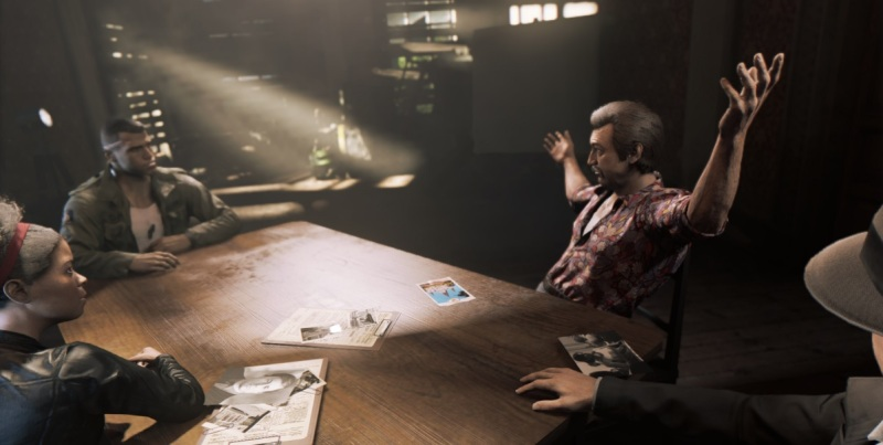Mafia III sit-down meeting. Lincoln has to choose who gets promoted.