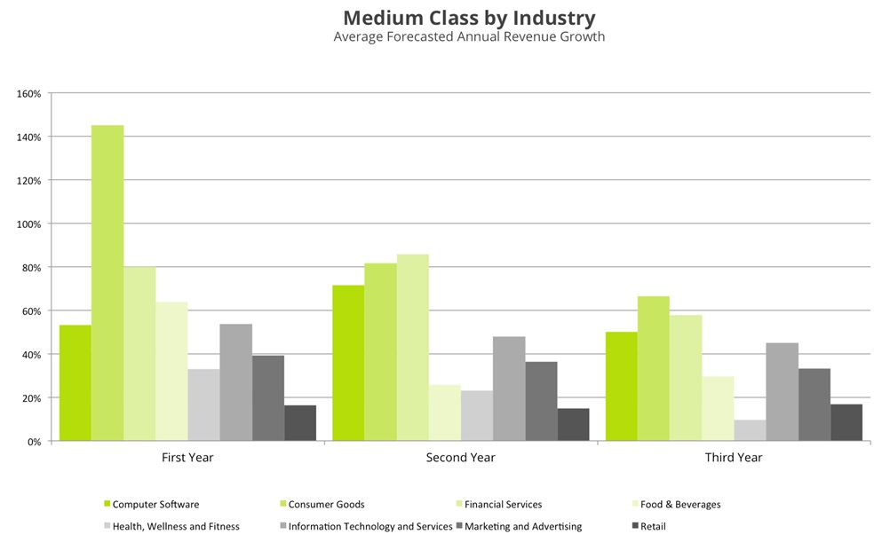 medium class by industry