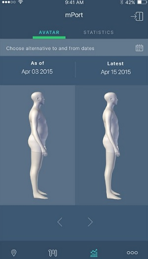 mPort measures your body in 3D.