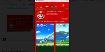 Apple takes sign-ups for Nintendo's Super Mario Run