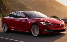 A Tesla Model S promotional photo.