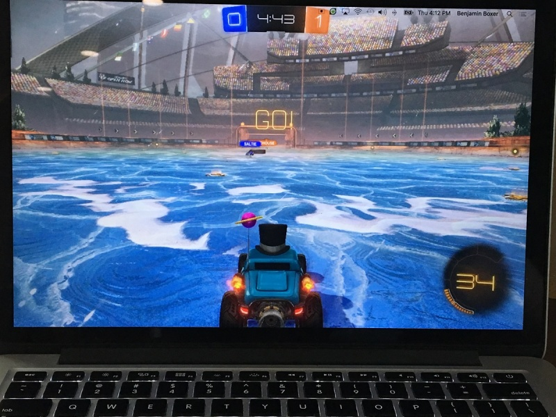 Parsec enables you to play a game like Rocket League on the Mac.