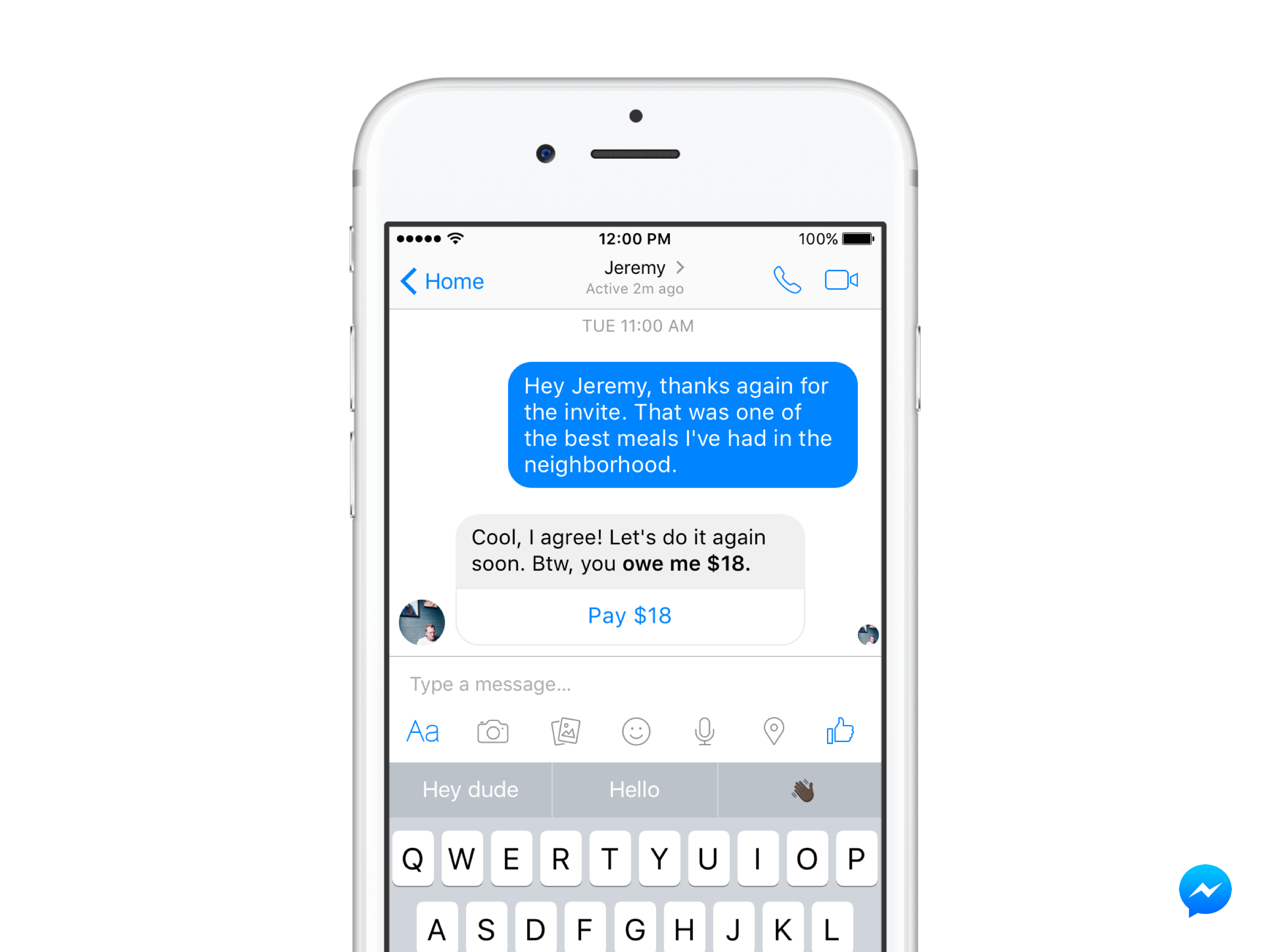 Facebook is using its chat assist technology to find ways to help users send money through Messenger.