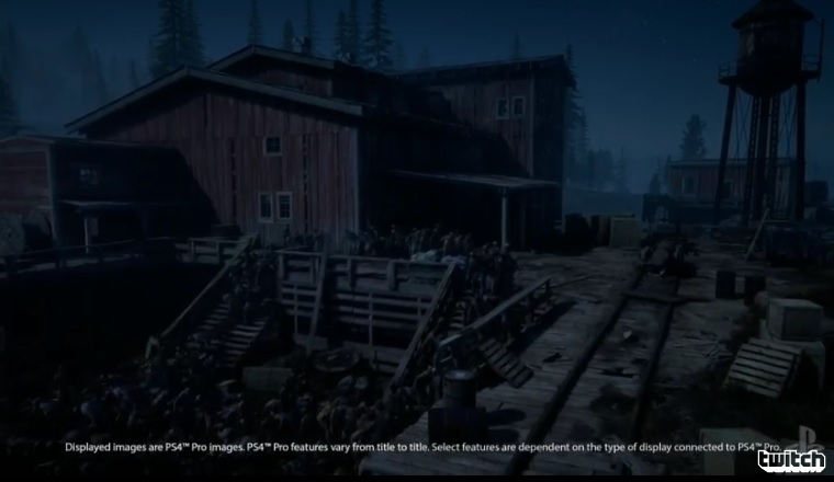 A shot from Days Gone shows how 4K HDR looks in a night scene.