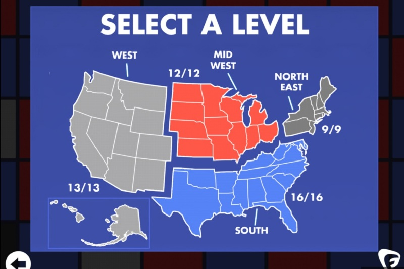 Select a region and a state where you want to rig the votes.
