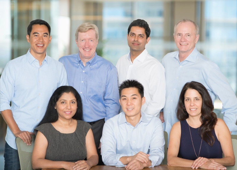 The team at Signia Venture Partners. Left to right. Top: Zaw Thet, Ed Cluss, Sunny Dhillon, Rick Thompson. Bottom: Anagha Raje, Linus Liang, Gina Domizio.