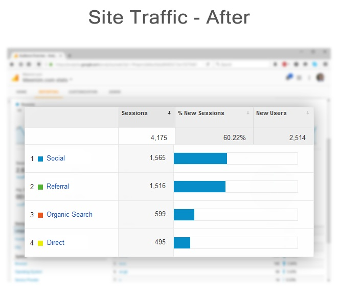 site traffic after