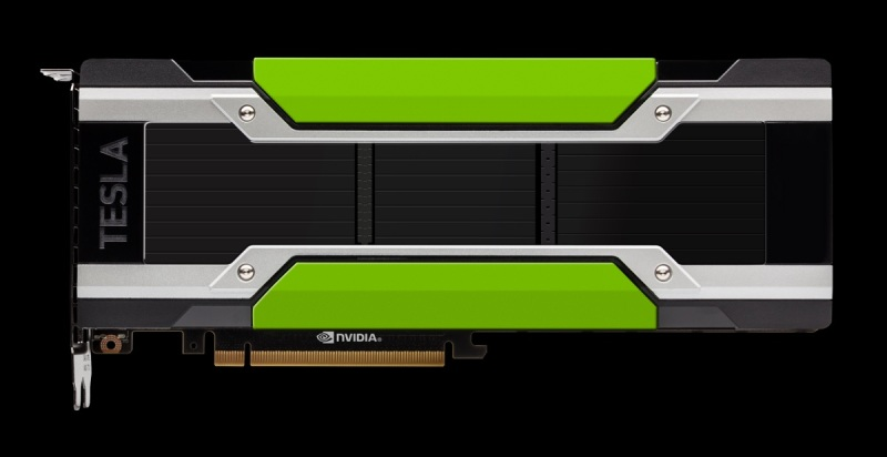 Nvidia Tesla P40 graphics card for deep learning inference applications.
