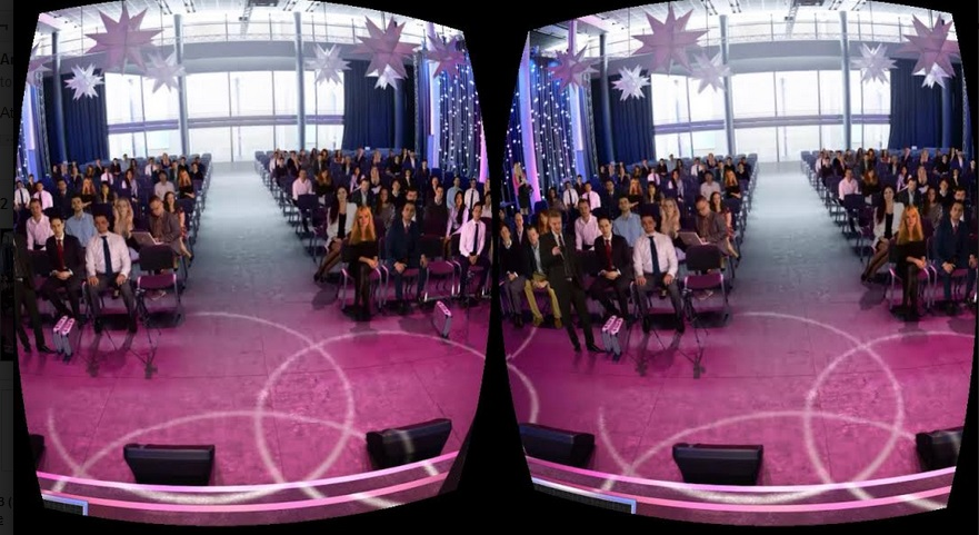 VirtualSpeech's VR app on my mobile via WebVR