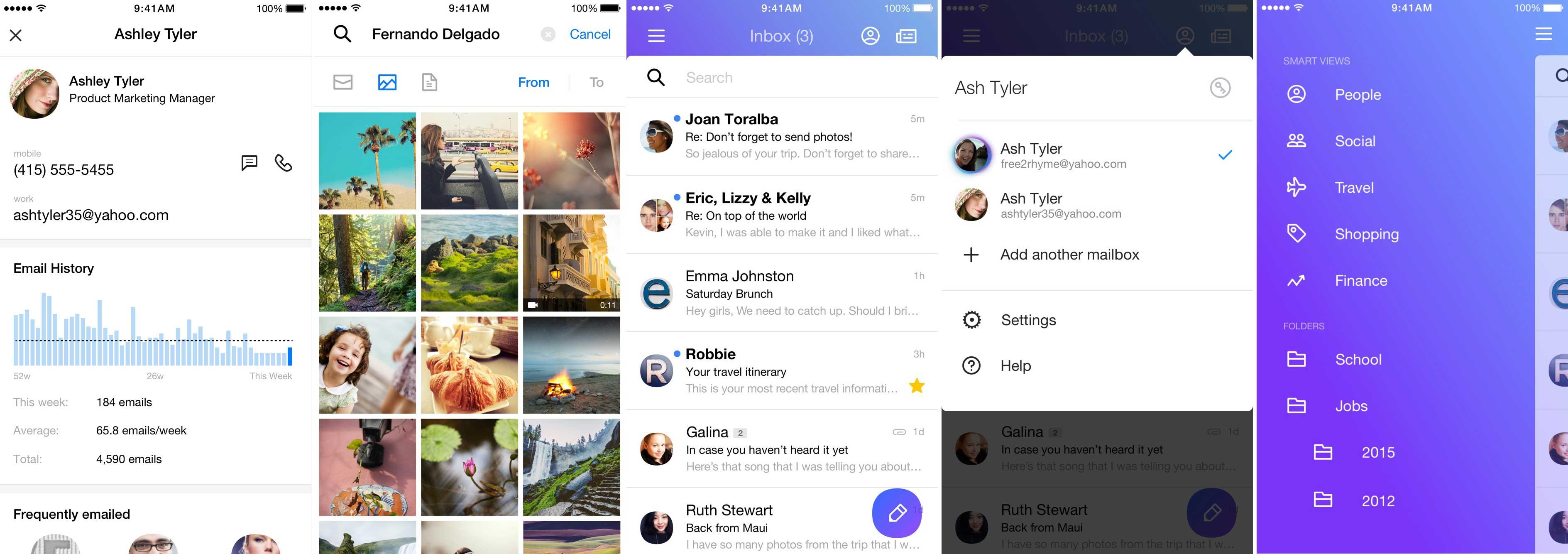 Yahoo Mail's iOS app