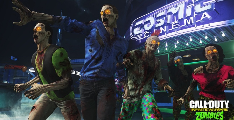 The zombies are ugly but colorful in Zombies in Spaceland.