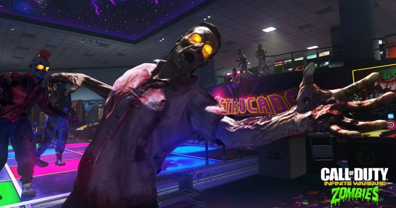 Beware the long arm of the Zombies in Spaceland.