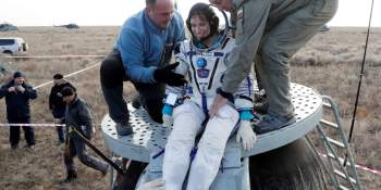 Multinational crew leaves space station, returns to Earth