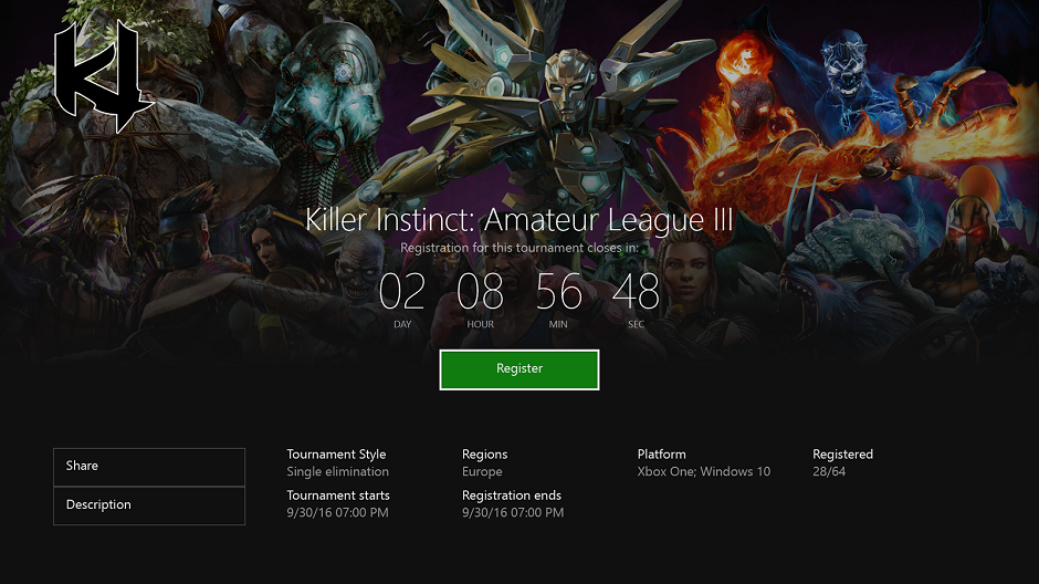 Killer Instinct is the first game to get Arena support.