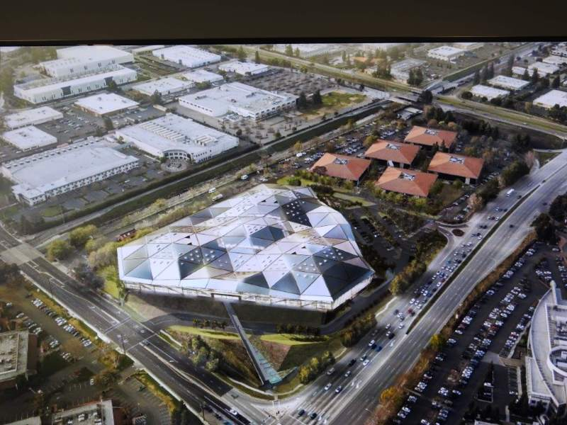 A concept rendering of Nvidia's headquarters.