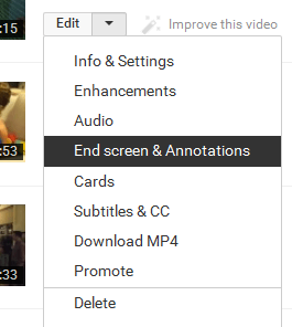 End Screen & Annotations