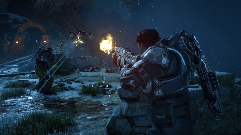 A guard in Gears of War 4.