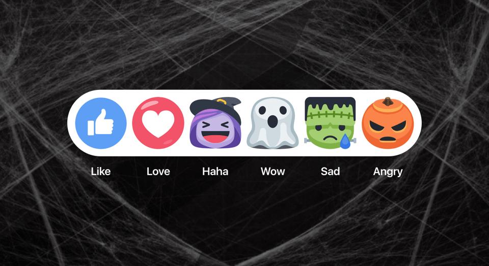Facebook Halloween Reactions