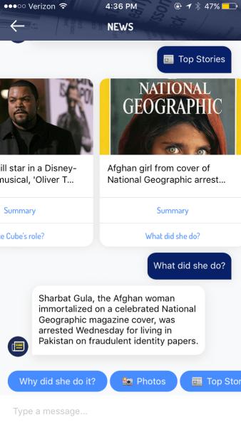Yahoo Bots app screenshot