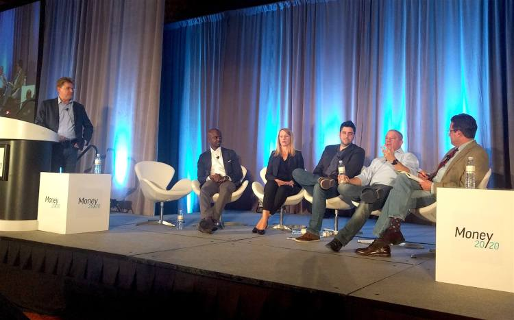 Speakers at a Money 20/20 panel on the future of blockchain in capital markets.