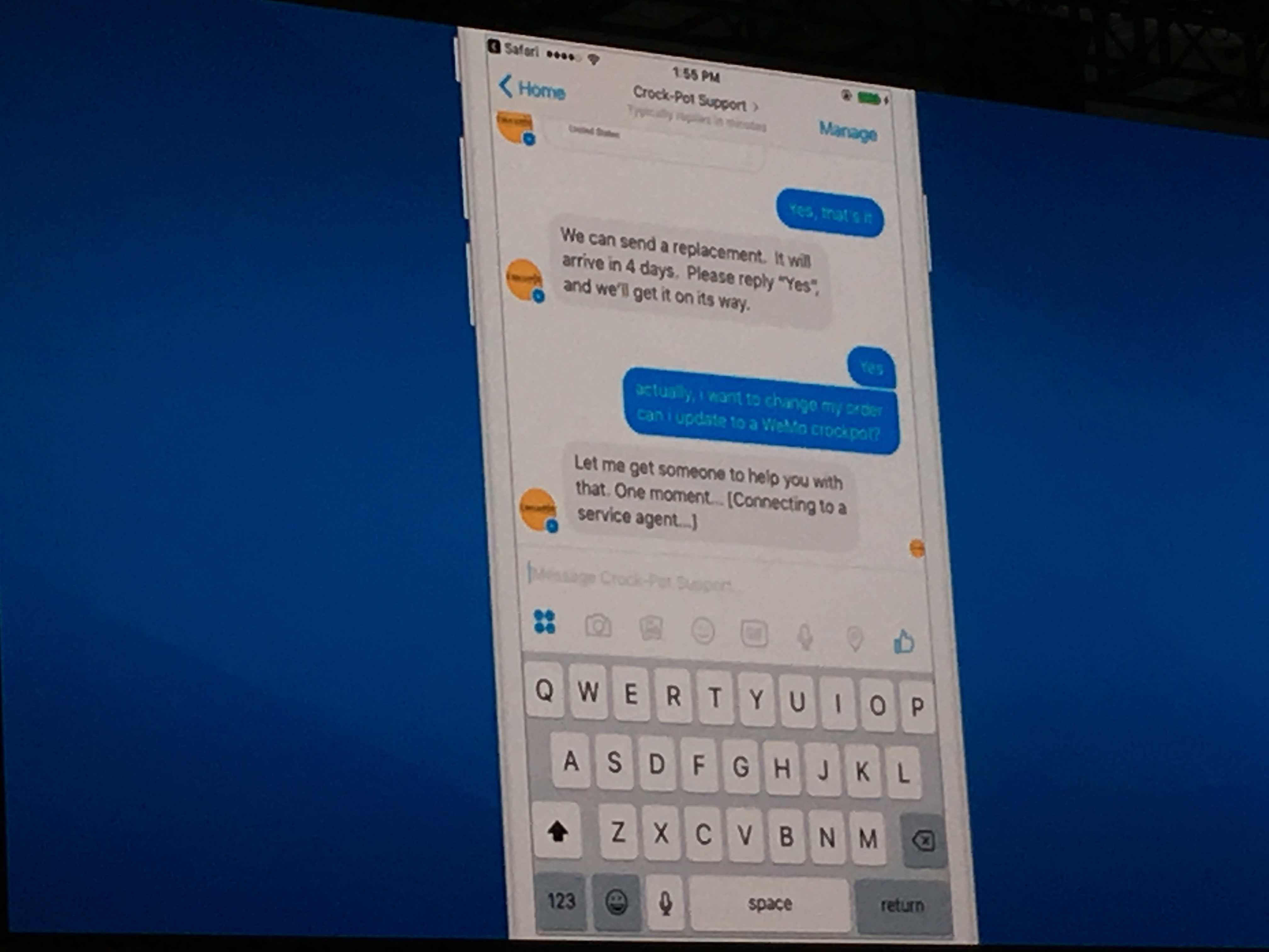Salesforce LiveMessage lets customers interact with bots and frees up human reps to respond to more complex issues.
