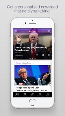 Personalized feeds within Yahoo Newsroom.