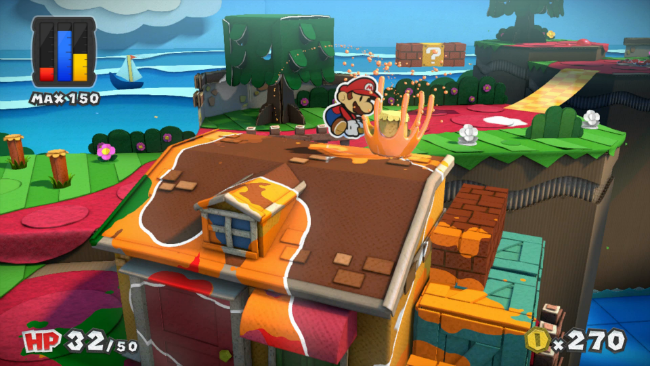 Mario doesn't bother with dropcloths when he paints houses.