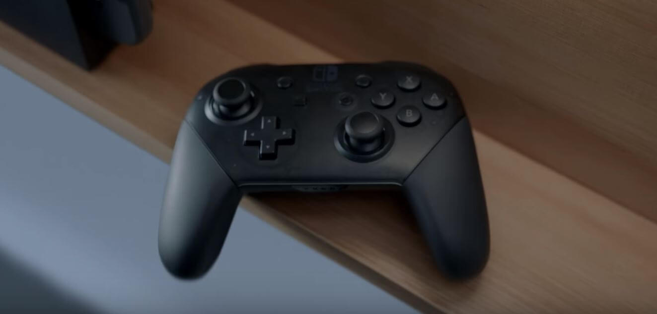 The Switch's Pro-style controller.