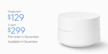 Google Wifi is a $129 modular router for the home