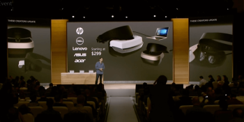 Acer, Asus, Dell, HP, and Lenovo will ship Windows 10 VR headsets, starting at $299