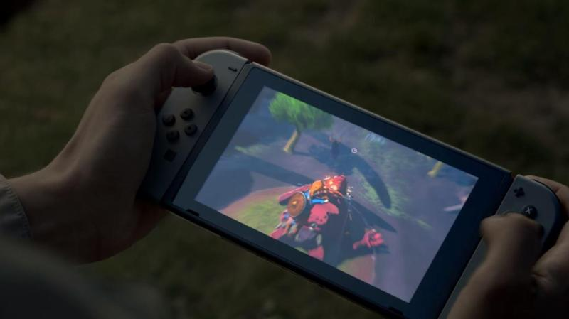 The Nintendo Switch in action.