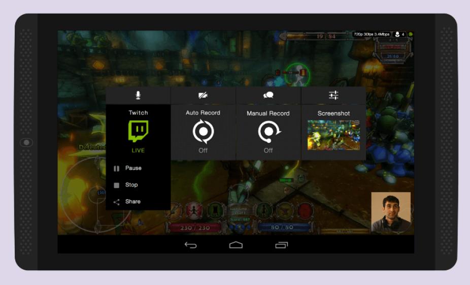 Nvidia Share on Shield.