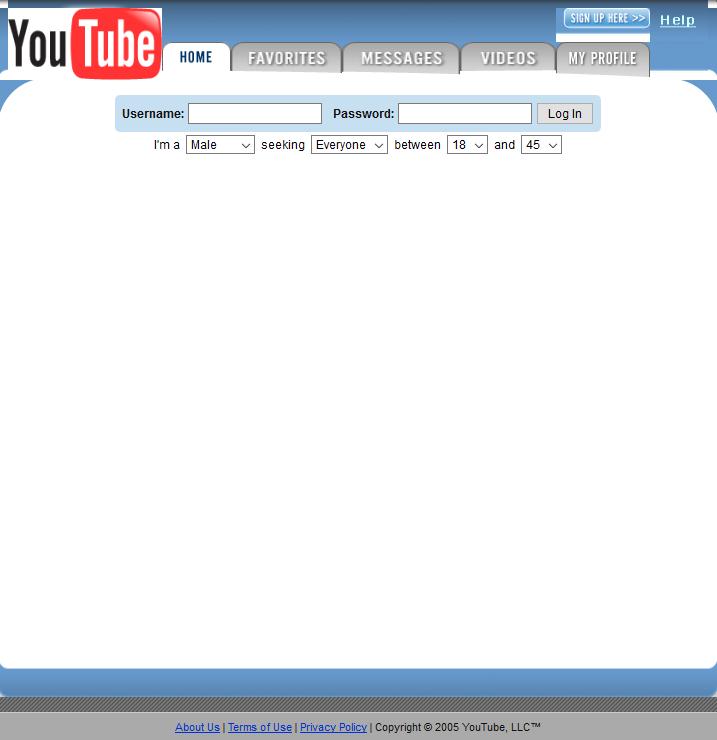 YouTube: April 28, 2005