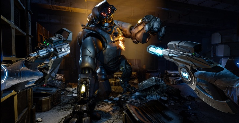 Artika.1 is a shooter game for the Oculus Touch from the makers of Metro 2033.