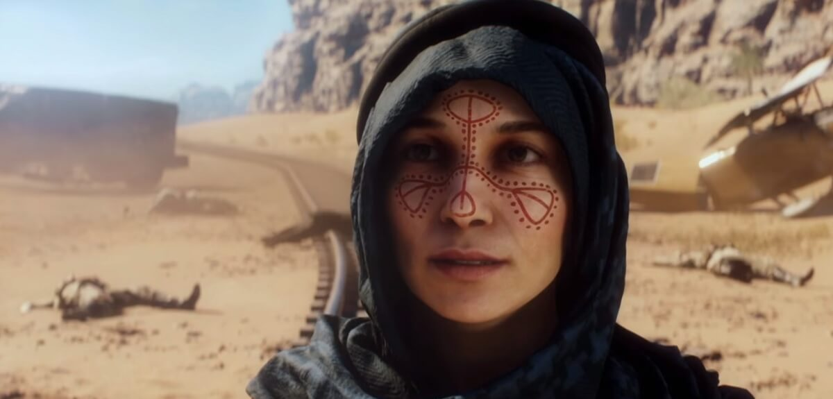 Zara Ghufran, a fictional character who fights for Lawrence of Arabia in Battlefield 1, is based on real female rebels.