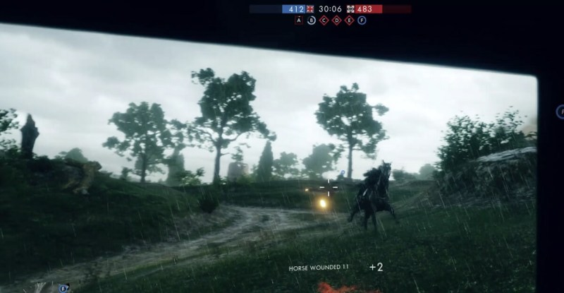 This guy brought a horse to a tank fight in Battlefield 1 multiplayer.